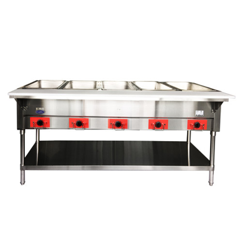 Atosa CSTEB-5 Electric Steam Table, 5 Pan, Open Well