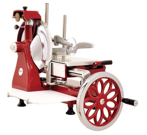 Omcan MS-IT-0350-MF 14-inch Manual Volano Slicer with Flower Flywheel