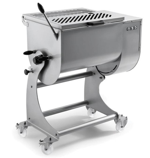 Omcan MM-IT-0080 Heavy-Duty Stainless Steel Meat Mixer with 80 kg. Capacity
