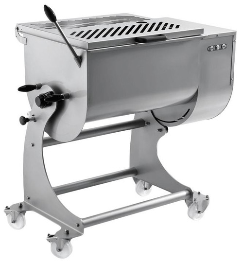 Omcan MM-IT-0120 Heavy-Duty Stainless Steel Meat Mixer with 120 kg. Capacity