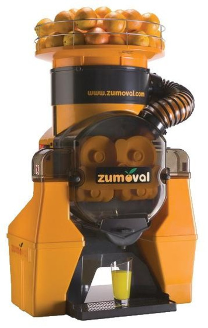 Omcan JE-ES-0028-T Zumoval Heavy-Duty Automatic Feed Juice Extractor with Self Cleaning and Self Tap - 28 oranges per minute