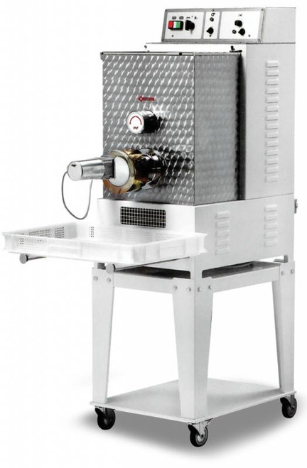 Omcan PM-IT-0025-T Floor Model Heavy-Duty Pasta Machine with 26 lbs. Tank Capacity - 1.5 HP