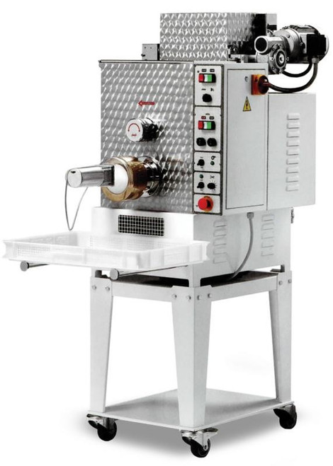 Omcan PM-IT-0040 Floor Model Heavy-Duty Pasta Machine with Dual Tank Capacity - 1.5 HP