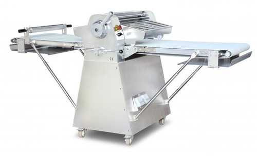 Omcan BE-CN-2083-FSS Stainless Steel Floor Model Dough Sheeter with 108-inch Conveyor Length and 0.5 HP