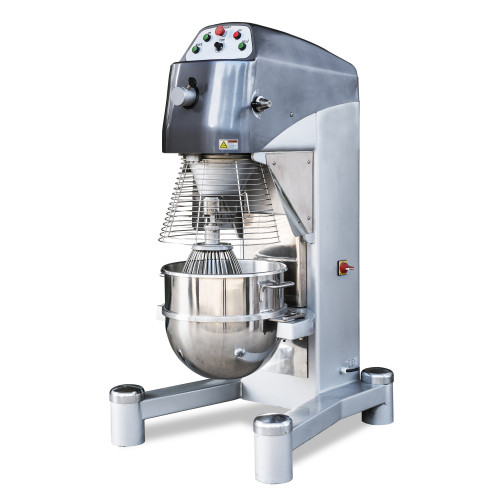 Omcan MX-CN-0060 60-QT Heavy-Duty Baking Mixer with Guard and Timer
