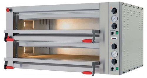 Omcan PE-IT-0049-D Electric Pizza Oven - Double Chamber & Mechanical Display - 18 kW