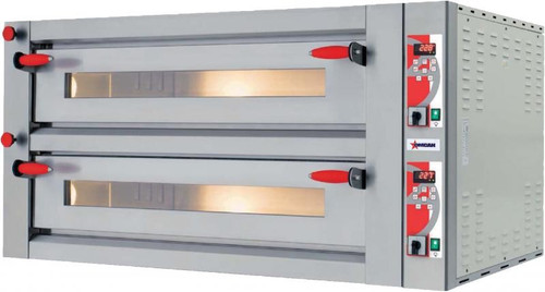 Omcan PE-IT-0049-DD Electric Pizza Oven - Double Chamber & Digital Display - 18 kW