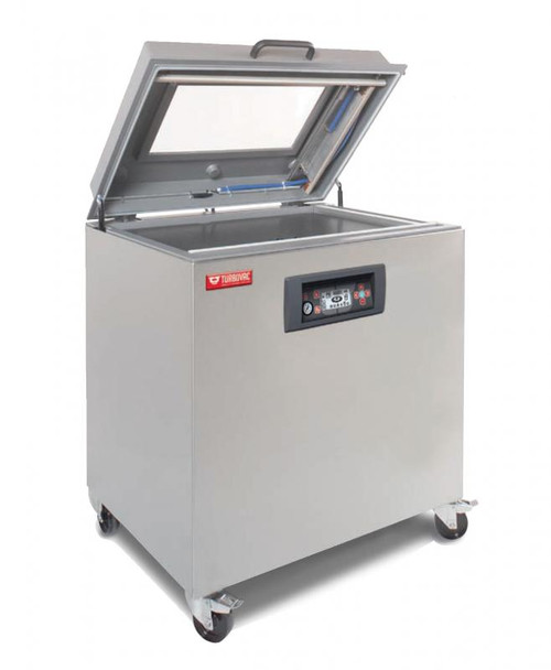 """Omcan VP-NL-0040-MS Turbovac Heavy-Duty Vacuum Packaging Machine with Aluminum Cover and 19.5"""" Seal Length"""