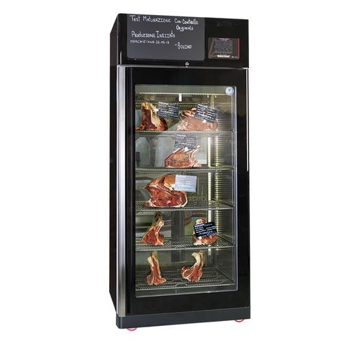 Omcan MATC150TW Black Merchandiser Stainless Steel Meat Aging Cabinet - 330 lb., 220V, 3500W