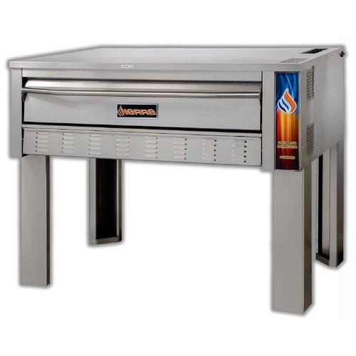 "Sierra SRPO-48G 48"" Single Deck Gas Pizza Oven, 66K BTU"