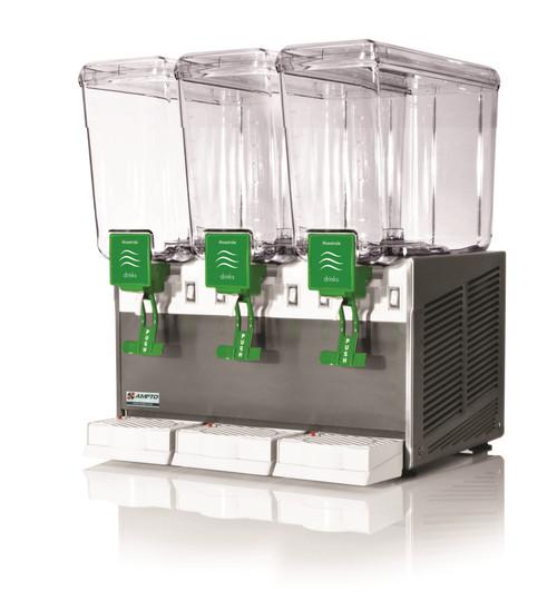 Ampto C1316 Cold Beverage Dispenser, 3 Gallons, 3 Bowls (C1316)