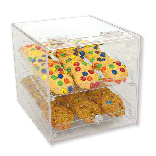 Goldleaf Plastics 2 Tier Lift-Front Bakery Case (Self-Serve)