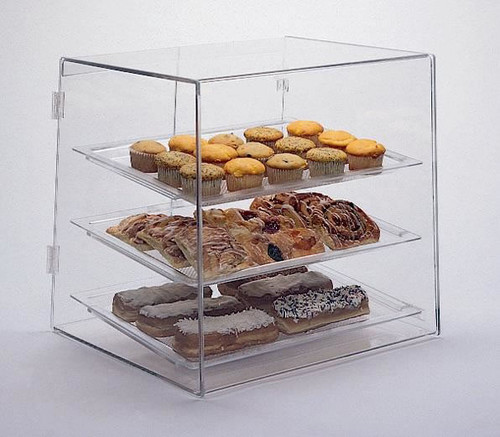 Goldleaf Plastics 3 Tier Slant Front Bakery Case: Wide (Counter Serve)