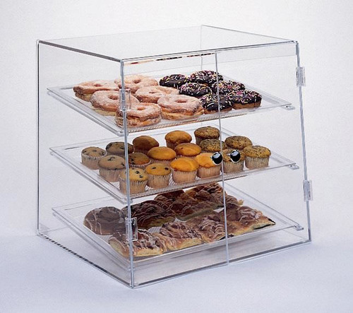 Goldleaf Plastics 3 Tier Slant Front Bakery Case: Wide (Self-Serve)