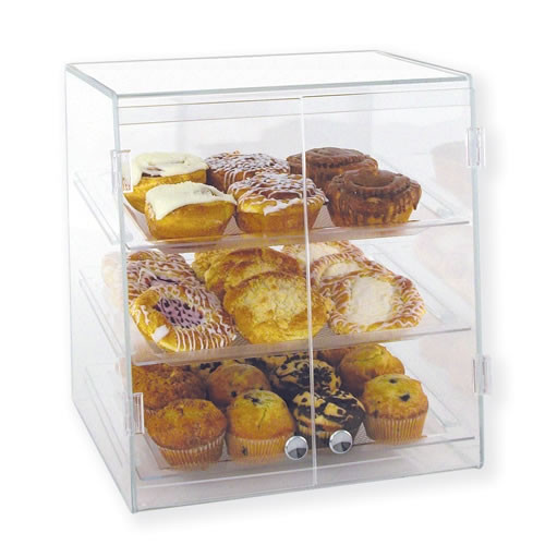 Goldleaf Plastics 3 Tier Slant-Front Wide Bakery Case (Self Serve)