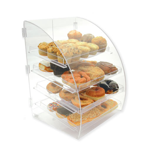 Goldleaf Plastics 4 Tier Curved-Front Bakery Case (Counter-Serve)