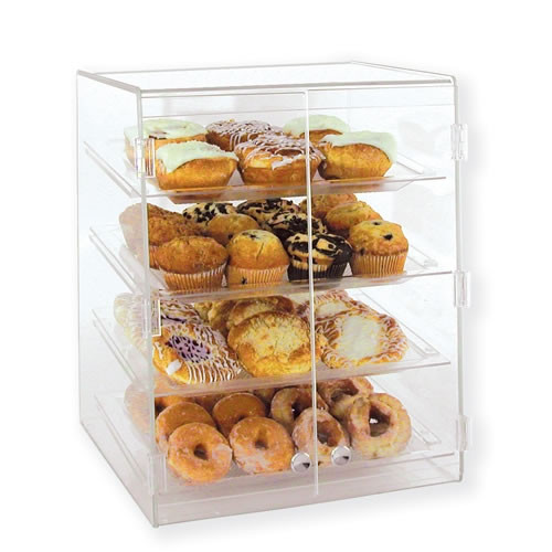 Goldleaf Plastics 4 Tier Wide Slant Front Bakery Case (Self-Serve)