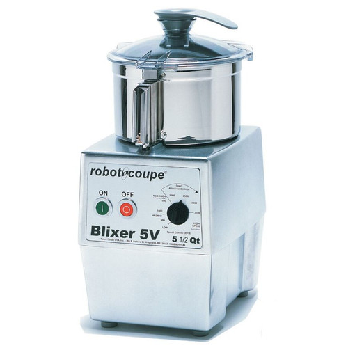 Robot Coupe Blixer 5VV Variable Speed Food Processor with 5.5 Qt. Stainless Steel Bowl - 3 hp