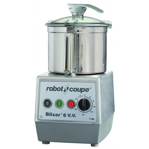 Robot Coupe Blixer 6VV Variable Speed Food Processor with 7 Qt. Stainless Steel Bowl - 3 hp