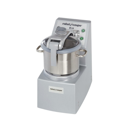 Robot Coupe R10 Ultra Vertical Food Processor with 10 Qt. and 4 Qt. Stainless Steel Bowls - 4.5 hp