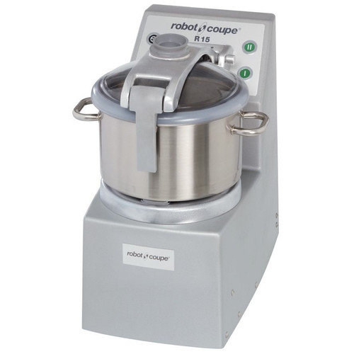 Robot Coupe R15 Ultra Vertical Food Processor with 15 Qt. and 4 Qt. Stainless Steel Bowls - 4 hp