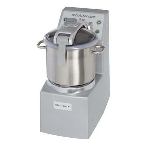 Robot Coupe R20 Vertical Food Processor with 20 Qt. Stainless Steel Bowl - 5.5 hp