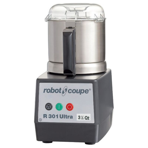 Robot Coupe R301 Ultra B  Food Processor with 3.5 Qt. Stainless Steel Bowl - 1.5 hp