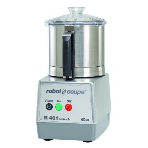 Robot Coupe R401 Combination Continuous Feed Food Processor with 4.5 Qt. Stainless Steel Bowl - 1.5 hp