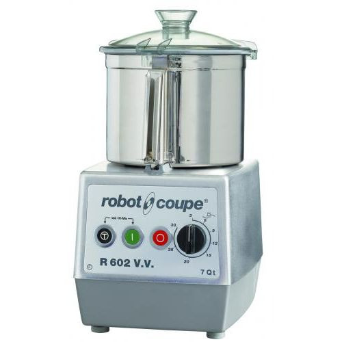 Robot Coupe R602 Combination Continuous Feed Food Processor with 7 Qt. Stainless Steel Bowl - 3 hp