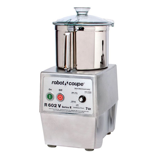 Robot Coupe R602VVB Variable Speed Food Processor with 7 Qt. Stainless Steel Bowl - 3 hp