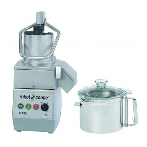 Robot Coupe R652 Combination Continuous Food Processor with 7 Qt. Stainless Steel Bowl - 3 hp