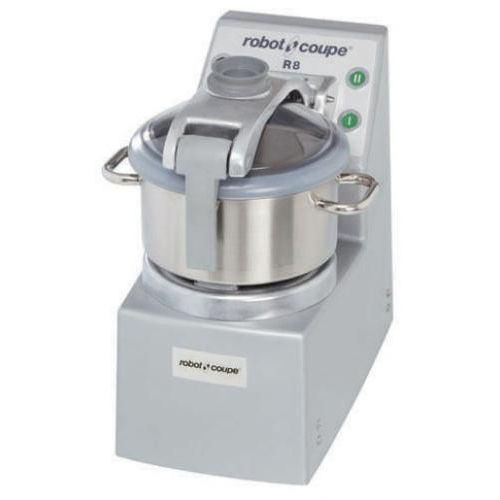 Robot Coupe R8 Vertical Food Processor with 8 Qt. Stainless Steel Bowl - 3 hp