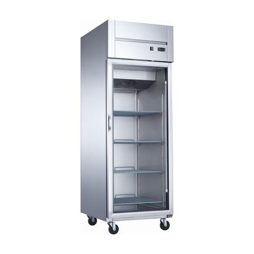 """Dukers D28AR-GS1 27 1/2"""" Glass Door Reach-In Refrigerator, 1 Door"""