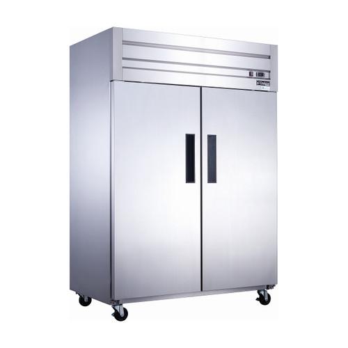 """Dukers D55AR 55 1/8"""" Solid Door Reach-In Refrigerator, 2 Doors"""