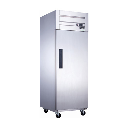 "Dukers D28AF 27 1/2"" Solid Door Reach-In Freezer, 1 Door"