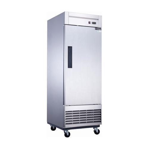 """Dukers D28R 27 1/2"""" Solid Door Reach-In Refrigerator, 1 Door"""