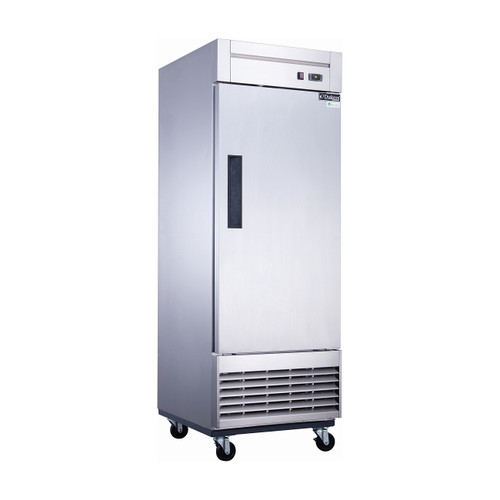 """Dukers D28F 27 1/2"""" Swing Solid Door Reach-In Freezer, 1 Door"""