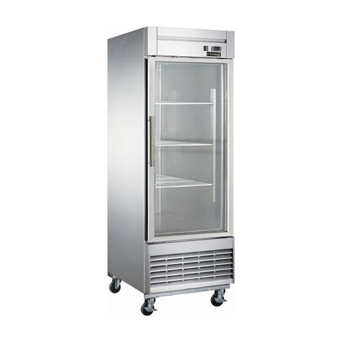 """Dukers D28R-GS1 27 1/8"""" Swing Glass Door Reach-In Refrigerator, 1 Door"""