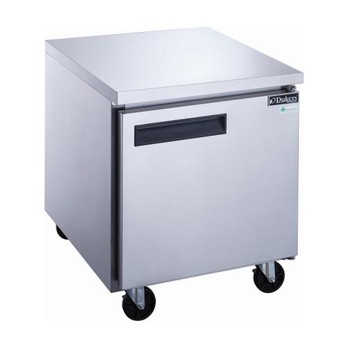 """Dukers DUC29R 29"""" Stainless Steel Undercounter Refrigerator, 1 Solid Door"""