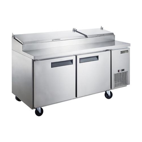 "Dukers DPP70-9-S2 69 7/8"" Pizza Prep Table - 2 Doors, 9 Pans"