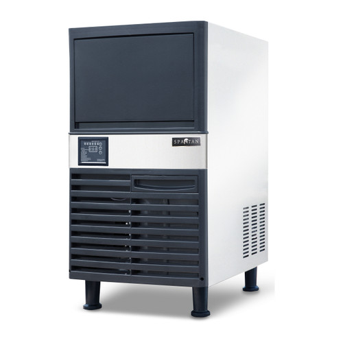 Spartan SUIM-120 Undercounter Half Cube Ice Machine with 40 Lbs Built-in Bin, 120 Lbs/Day