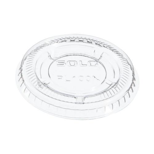 """Dart PL100N SoloUltra Clear Souffles PET Portion Container Lids - 1.9"""" Diameter"""