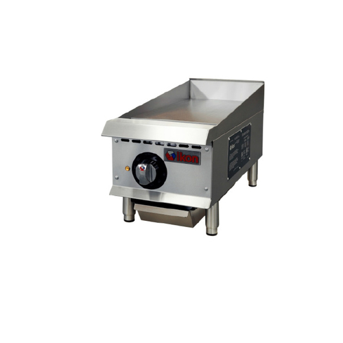 "IKON Series ITG-12E Electric Thermostatic Griddle - 12"", 208/240V"