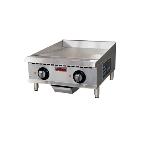"IKON Series ITG-24E Electric Thermostatic Griddle - 24"", 208/240V"