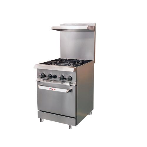 IKON Series IR-4-24 Gas range - 4 Burners with Oven