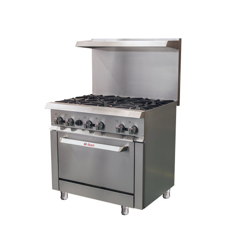 IKON Series IR-6-36 Gas range - 6 Burners with Oven