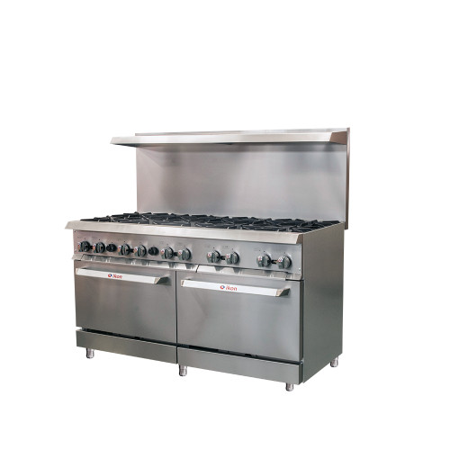 IKON Series IR-10-60 Gas range - 10 Burners with Oven