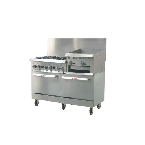 "IKON Series IR-6B-24RG-60 Gas Range 60"" - 6 Burners - 24"" Raised Griddle"