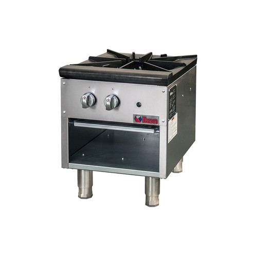 IKON Series ISP-18 Gas Stock Pot Range, 1 Burner, 80K BTU