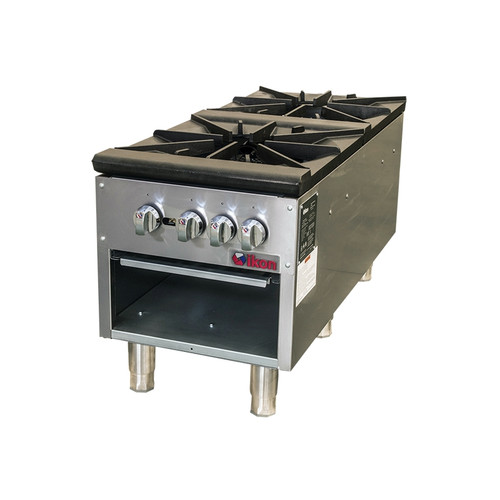 IKON Series ISP-18-2 Gas Stock Pot Range, 2 Burner, 160K BTU